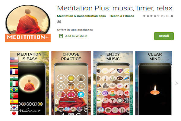 Meditation Plus - music, timer, relax - FREE Meditation App to relieve stress and anxiety - RightApp4u