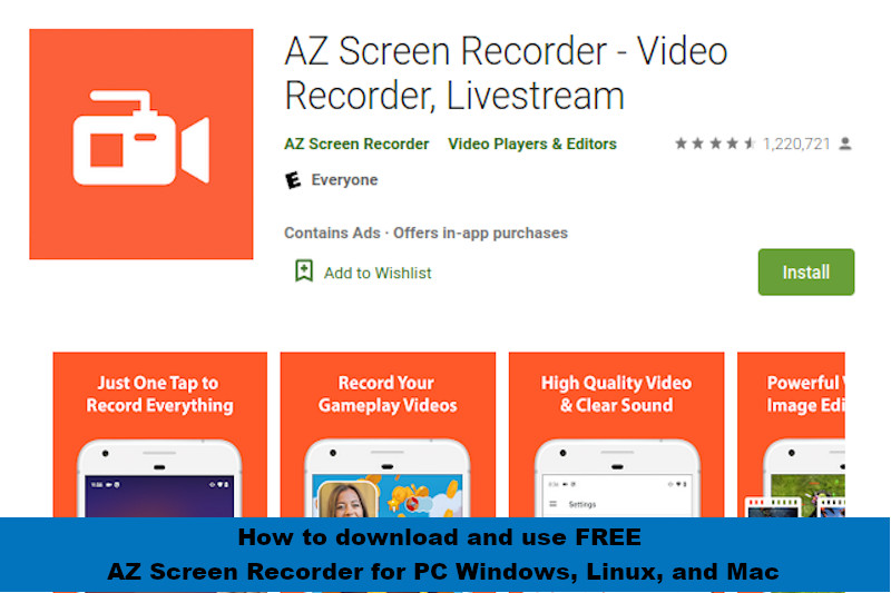 How to download and use FREE AZ Screen Recorder for PC Windows, Linux, and Mac - RightApp4u