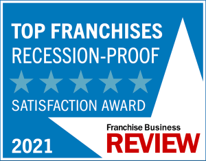 Franchise Business Review's Recession-proof-2021award-graphic