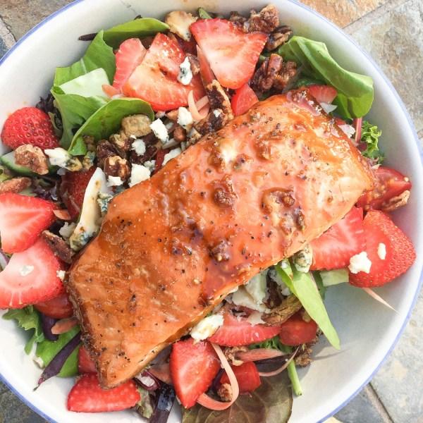 Everyone's Favorite Maple Glazed Salmon Salad