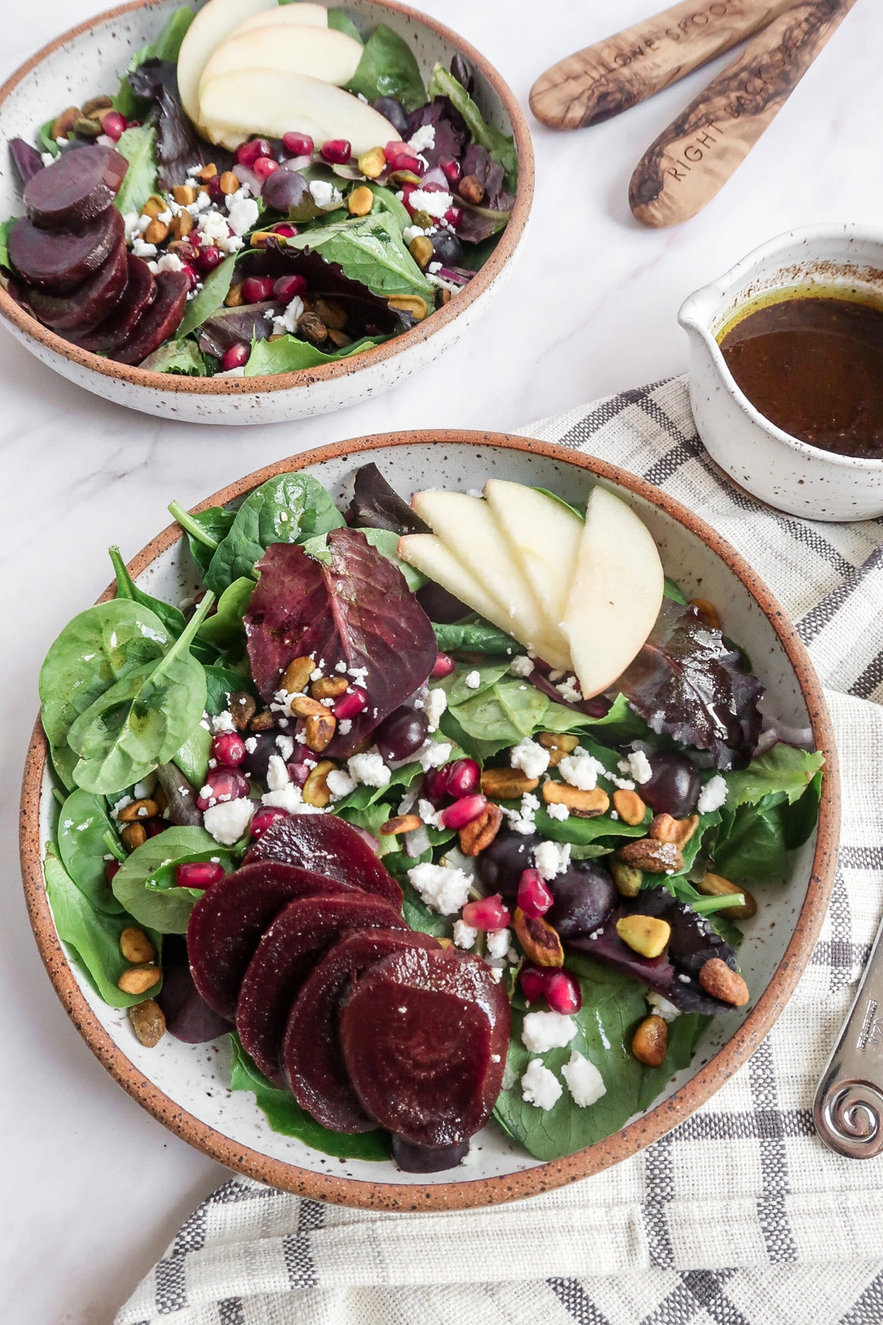 Roasted Beet Salad with Honey Balsamic Dressing