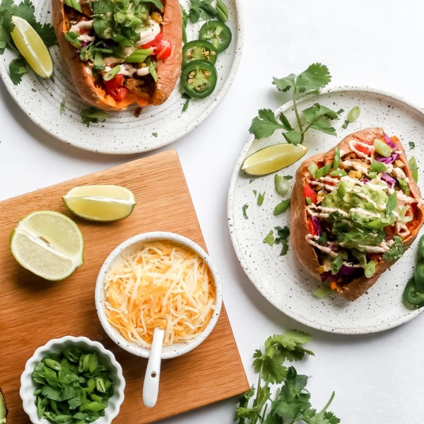 Healthy Taco Stuffed Sweet Potatoes in Twenty Minutes