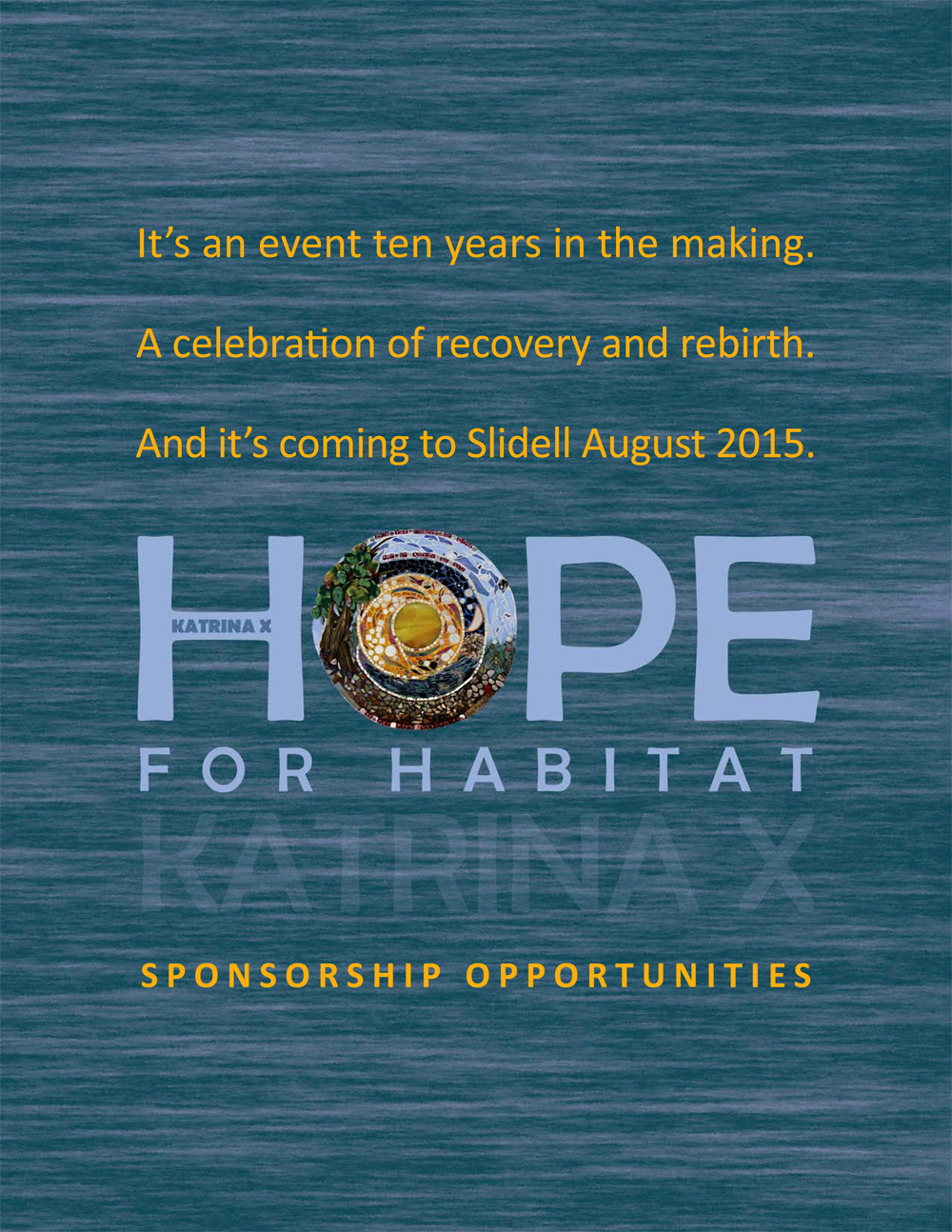 Thanks to our Hope for Habitat: Katrina X event sponsors