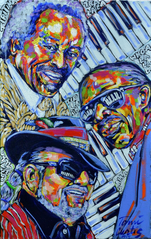 Three Piano Men – Tami Curtis, artist