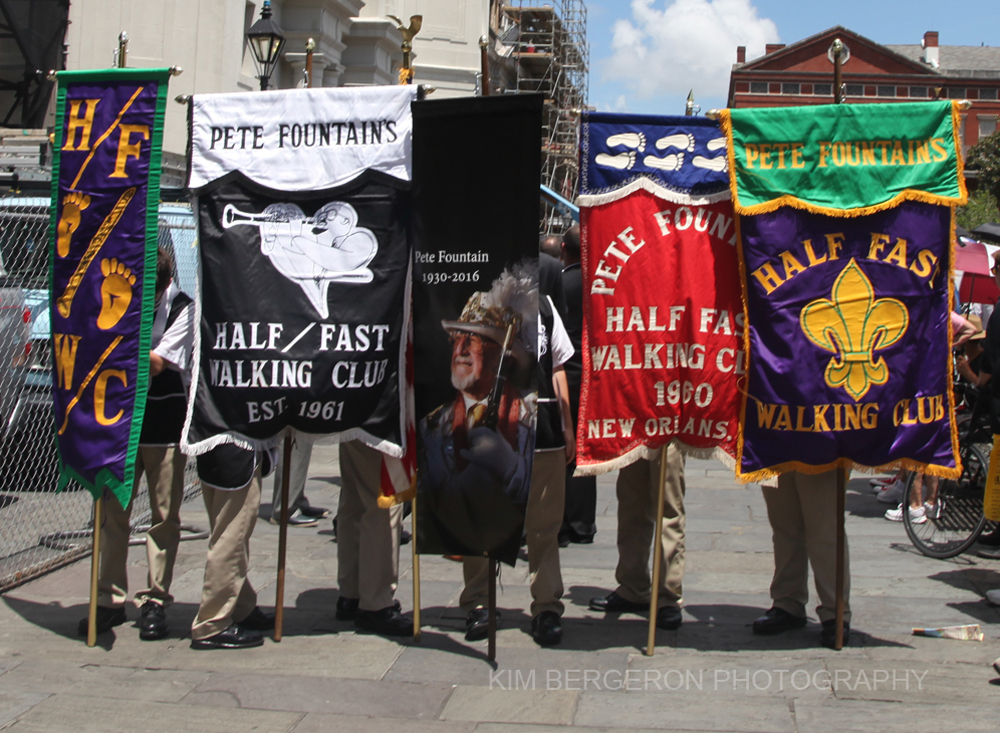 PF Half Fast Walking Band banners by Kim Bergeron