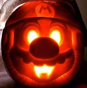 Creepy Mario Pumpkin