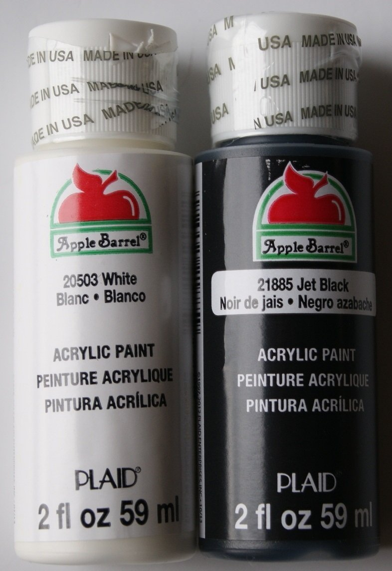Black and White Acrylic Paint