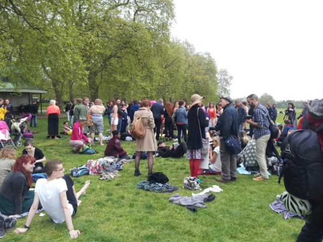 Beach Body Protest at Hyde Park, May 2nd 2015, The Right Dishonourable