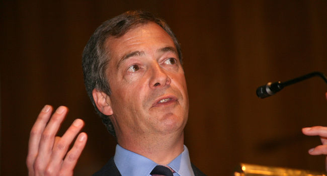 Nigel Farage in May 2008, by Euro Realist Newsletter