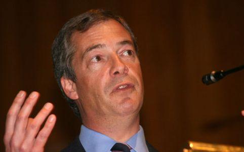 Nigel Farage in May 2008, by Euro Realist Newsletter