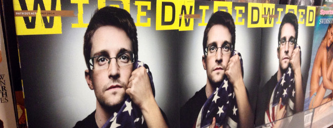 Edward Snowden, Wired cover, September 2014 by Mike Mozart