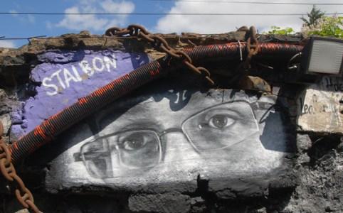 Edward Snowden mural, July 2013 by Thierry Ehrmann
