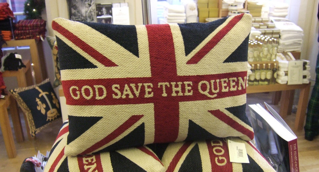 God Save the Queen pillow, November 2009 by Simon Whittaker