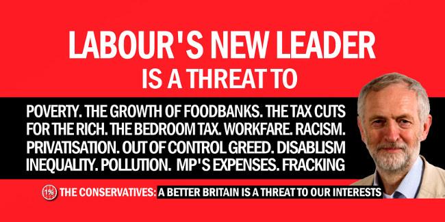 Jeremy Corbyn national threat poster parody, September 2015 by Byzantine_K