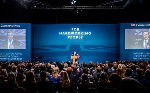 David Cameron at Conservative Conference Manchester, October 2015 by the Conservatives
