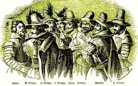 Gunpowder plot, public domain