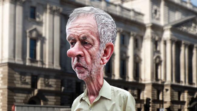 Jeremy Corbyn caricature by DonkeyHotey