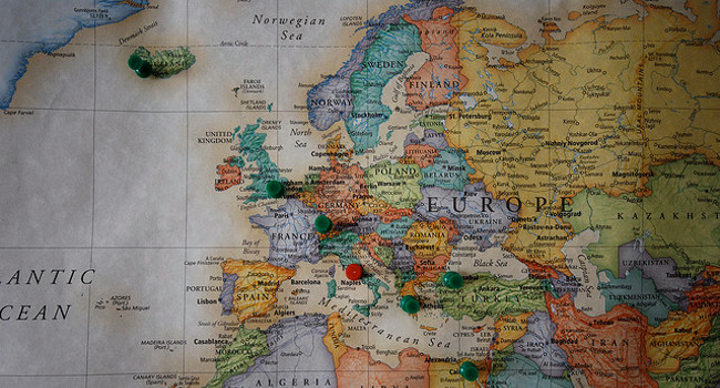 Map of Europe, October 2008 by Kevin Hale