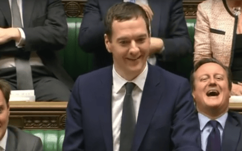 George Osborne laughs at John McDonnell, Autumn Statement 2015, via BBC