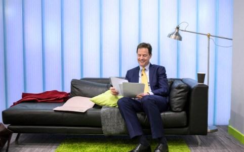 Nick Clegg preparing for Leaders Debate, April 2015 by Liberal Democrats