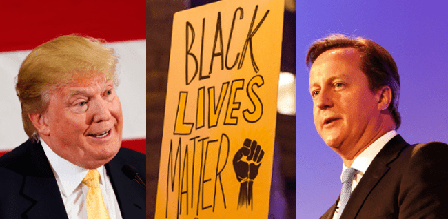 RD E28 Donald Trump, Black Lives Matter and David Cameron