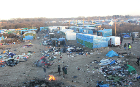 Calais Jungle, January 2016 by Malachy Browne