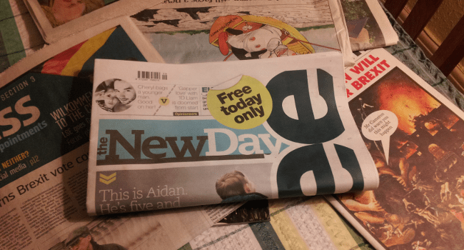 New Day, February 2016 by Jimmy Nicholls