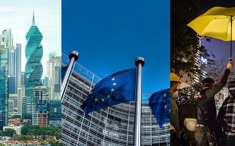 RD E40, Panama, EU Flags, Umbrella Revolution