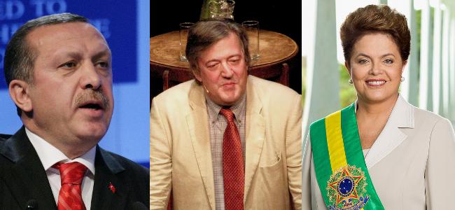 RD E41, Recep Tayyip Erdogan, Stephen Fry, Dilma Rousseff