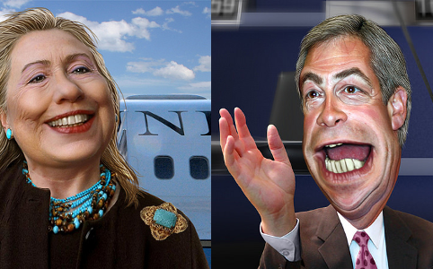RD E48 Hillary Clinton, Nigel Farage