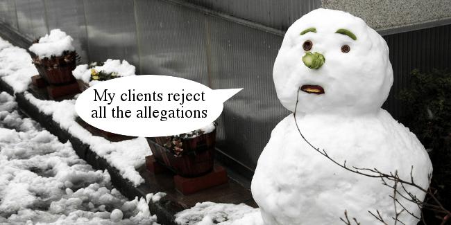 Right Dishonourable Snowman denial2