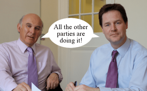 Right Dishonourable Lib Dem Entryism