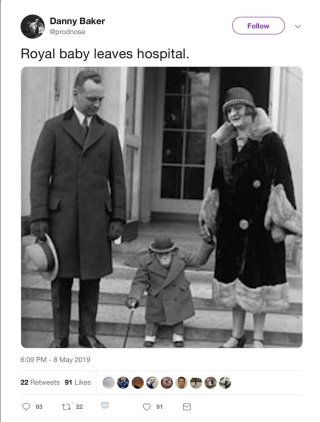 Danny Baker royal baby leaves hospital