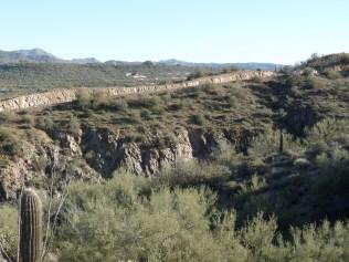 "Limestone ""wall"", on Horseshoe Bend segment of trail"
