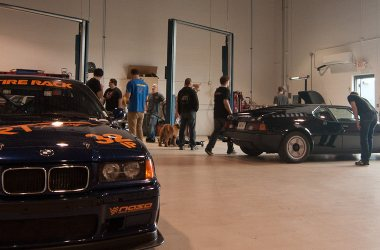 BMW M1 and E36 race car