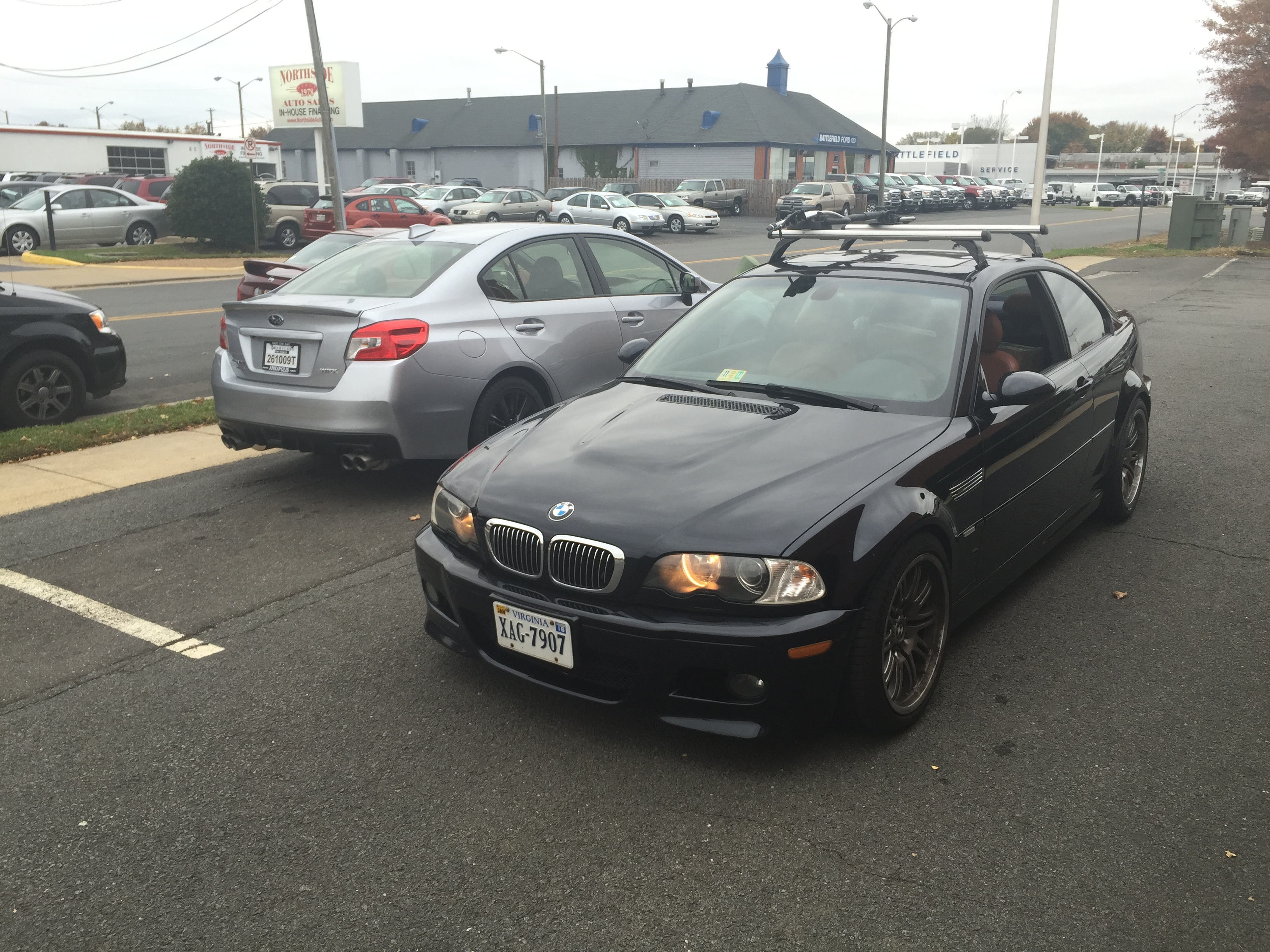 Carbon Black E46 M3 and Ice Silver Subaru WRX