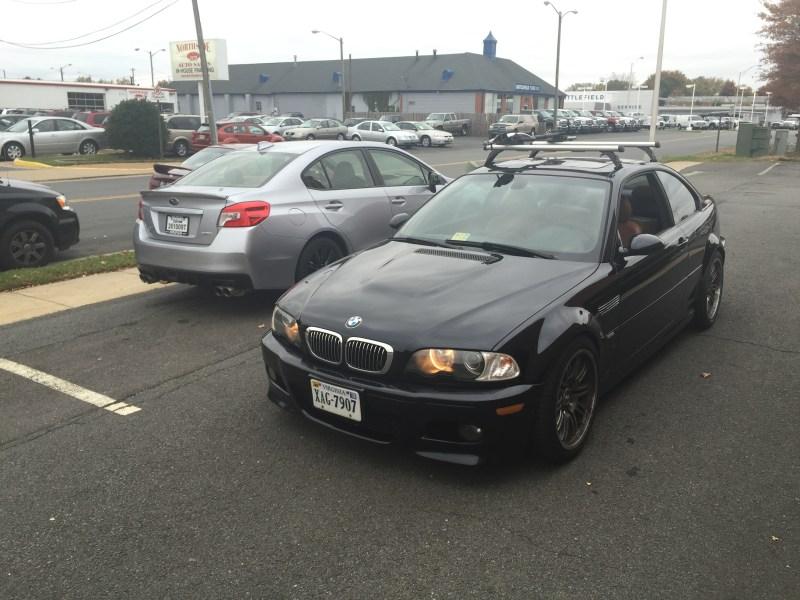 Carbon Black E46 M3 and Ice Silver Subaru WRX
