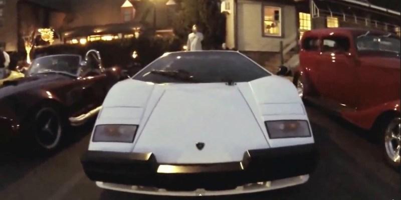 White Lamborghini Countach at Katie's Cars and Coffee