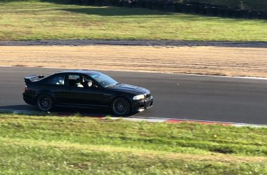Jet Black E46 M3 on race track