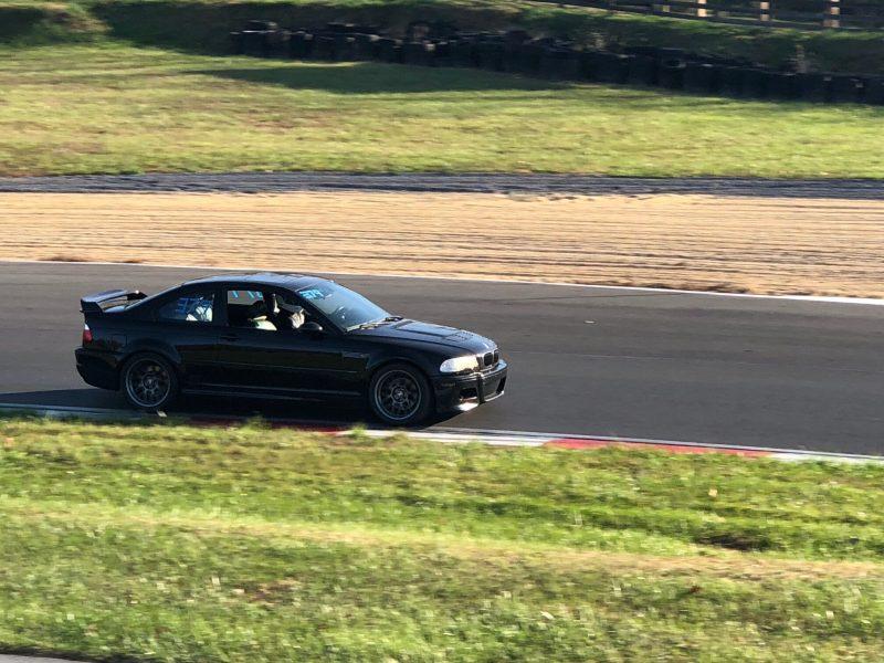 Jet Black E46 M3 on race track