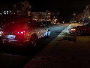 2021 VW Atlas SE R Line at night