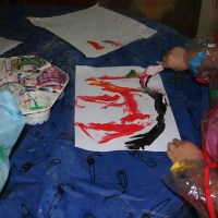 Ideas for Teaching Literacy through Play - Painting with Feathers
