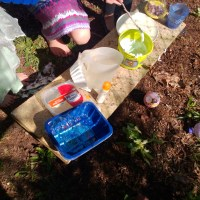 Outdoor Play: Making Potions