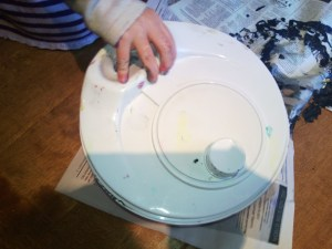 salad spinner painting