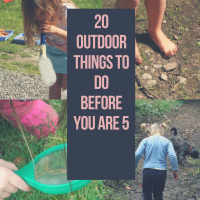 20 Outdoor Things to Do Before You are 5