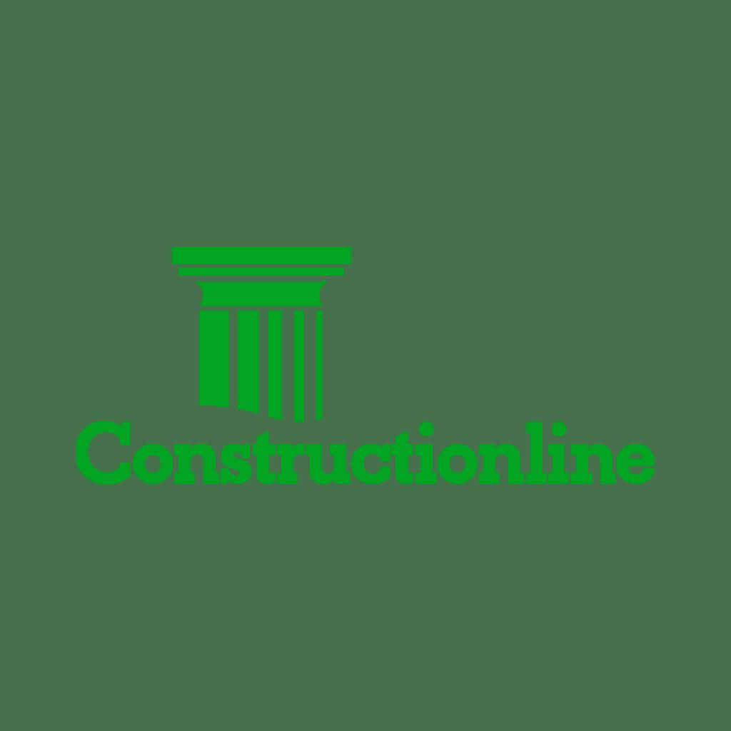 Construction line logo green