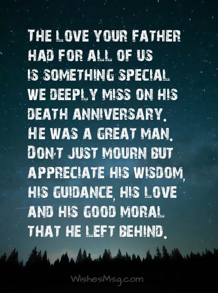 Death-Anniversary-Message-For-Friend's-Father