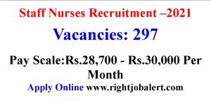 297 Staff Nurse Job opportunities in Mahatma Gandhi Memorial Medical College
