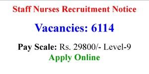 6114 Staff Nurses Job Opportunities