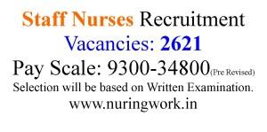 2621 Staff Nurse job opportunities-2021